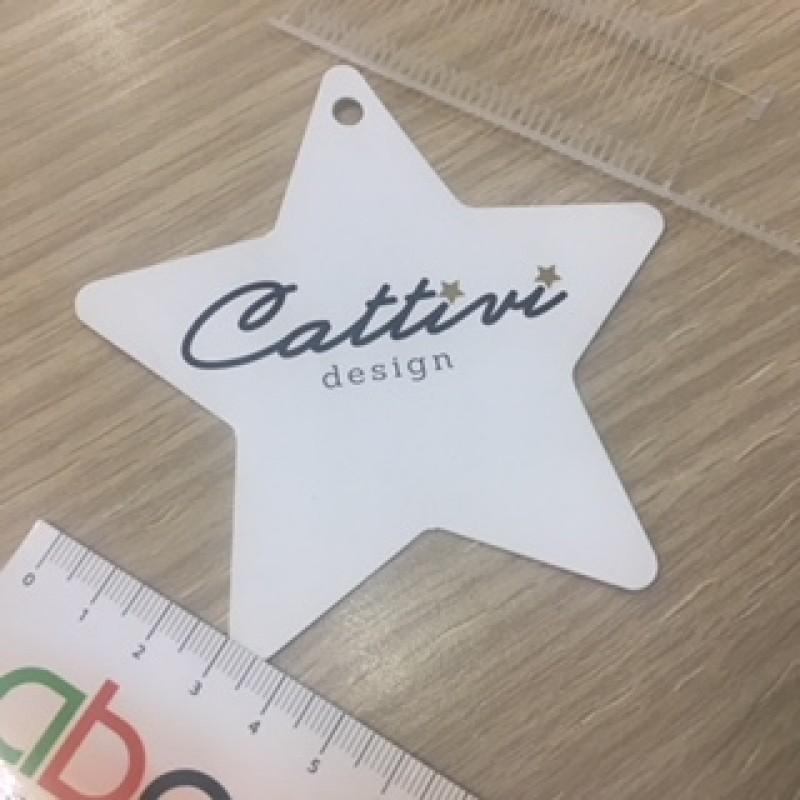 Etiqueta con forma de estrella