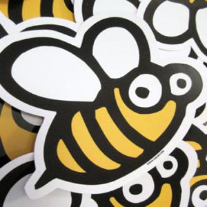 troquelada con forma de abeja
