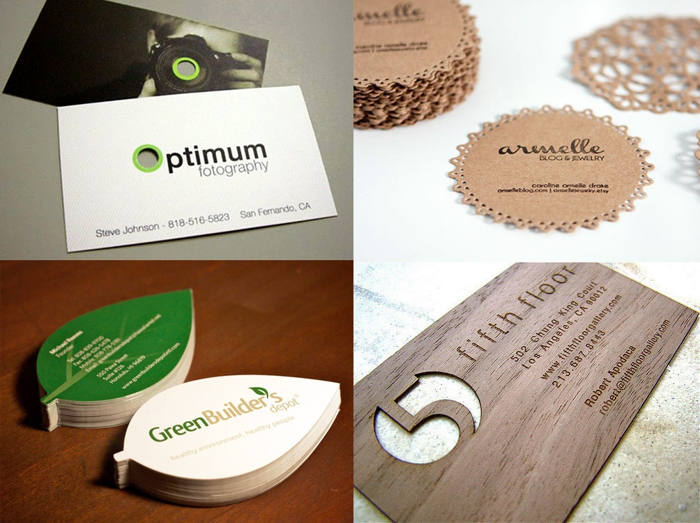 tarjetas de visitas con formas personalizadas
